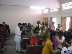 Flower Decoration Competition  HIRA Utsav- An Intercollegiate Competition