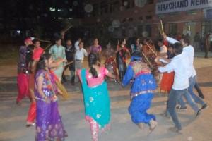 Students Enjoying Dandiaya Celebration