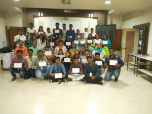 Certificate Distribution for the Workshop on Presentation skills for MBA I- 1